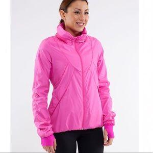 Lululemon Run: Hustle Jacket Paris Pink Sz 4